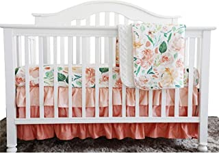 coral girl crib bedding
