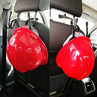 Flexible Over The Seat Hard Hat Rack Holder , Hold all manufacturers hard hats ­ regular, wide brim and cowboy hat style — Secure hard hat safely in vehicles, Car Truck Mount -2/PK- No Hard Hat