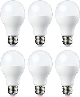 Amazon Basics Bombilla LED Esférica E27 de tornillo Edison, 9W (Equivalente a 60W), [Classe energética A++], Blanco Cálido...