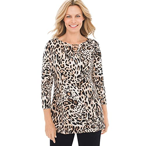 1873957d Chico's Women's Travelers Classic Neck-Detail Top