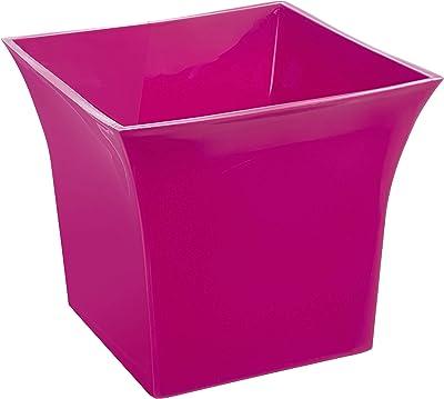 Klassic Plastic Sharp Edge Big Planter Set (Pink, Pack of 6)