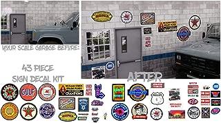 East Coast Vinyl Werkz 1/10 RC Rock Crawler - 43 Piece Scale Garage Sign Decals - 1:10 Scale Accessory Diorama