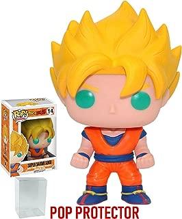 Funko Pop! Anime: Dragon Ball Z - Super Saiyan Goku Vinyl Figure (Bundled with Pop BOX PROTECTOR CASE)
