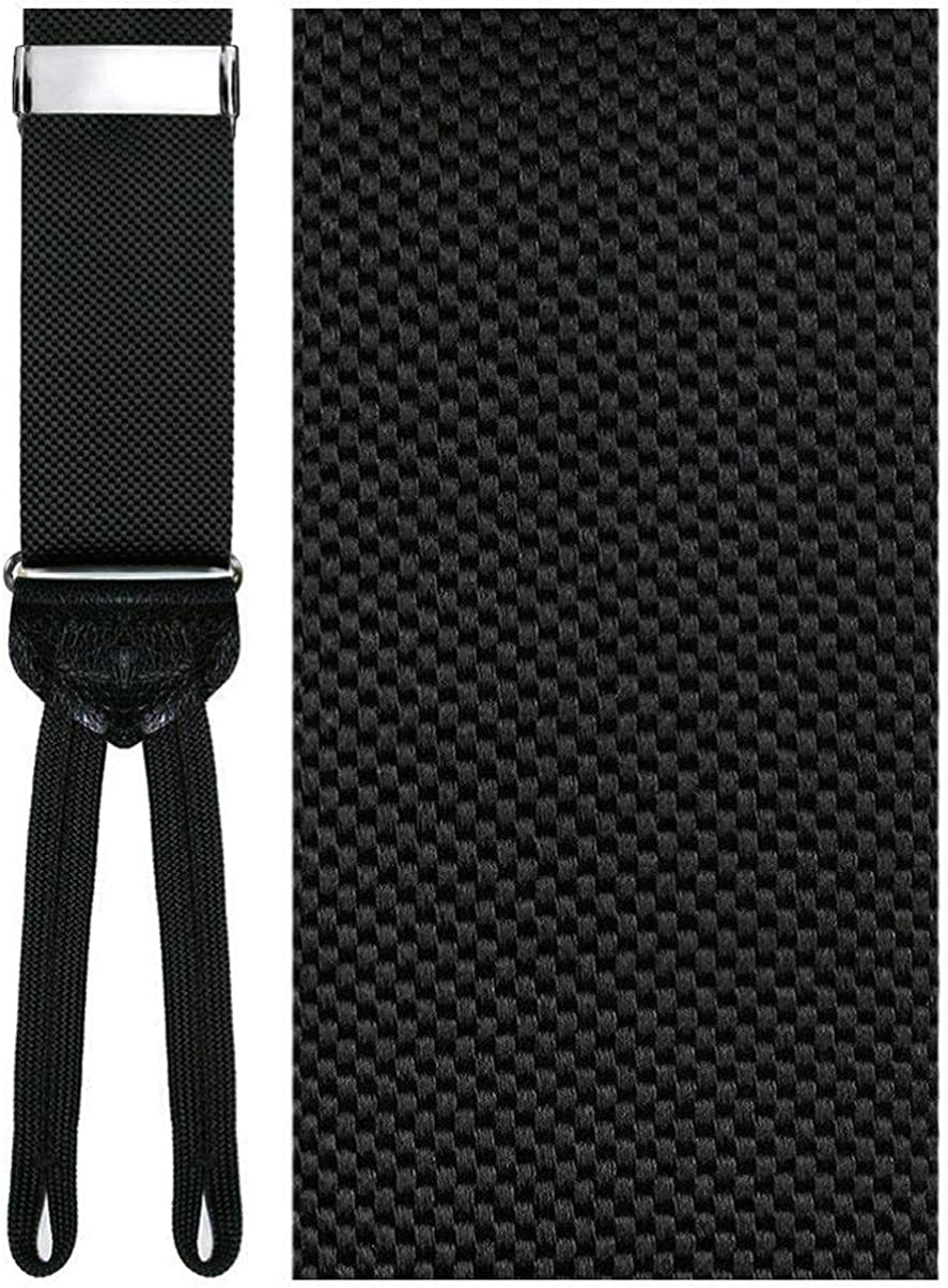 Teramo Black Silk Suspenders