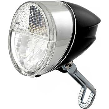 Fahrrad LED Scheinwerfer 30 Lux Schalter Standlicht Fahrradlampe Nabendynamo