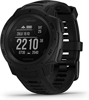 Garmin Instinct Tactical Edition - Montre GPS fiable et robuste pour les activités outdoor avec fonctions tactiques - Noir