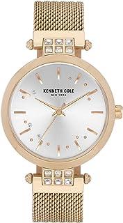 Kenneth Cole Women's Crystal Mesh KC50960004 Gold Stainless-Steel Quartz Dress Watch