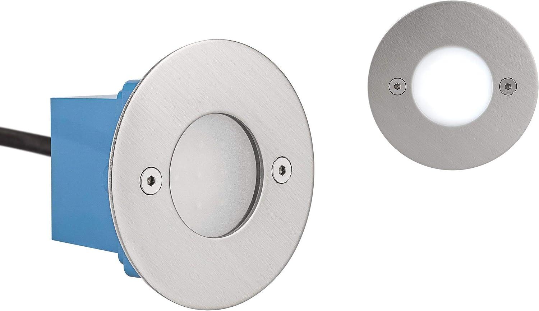 LED Treppenleuchte Wandleuchte Janus RUND - IP54-6.500 Kelvin 1-10 Stück (7 x Kaltweiss)