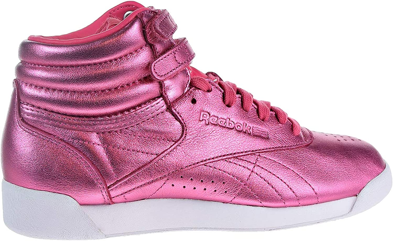 Reebok Womens F S HI Metallic Sharp Pink White