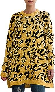 Women's Casual Leopard Print Long Sleeve Crew Neck...