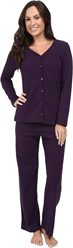 Jockey - Two-Piece Cotton Cardigan PJ Set