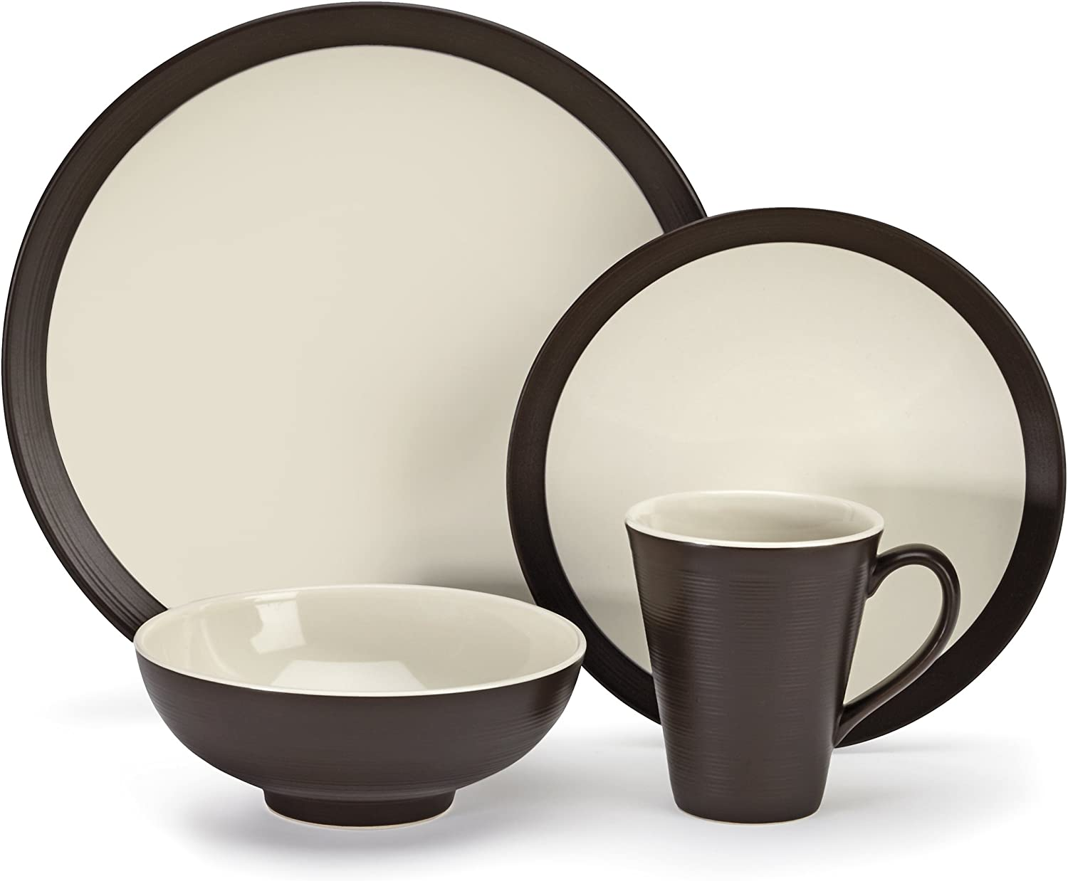 Cuisinart CDST1-S4CDB Stoneware Bailee Collection 16-Piece Dinnerware Sets