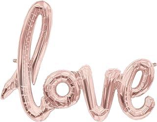 ballonfritz love-Schriftzug Luftballon in Rosegold - XXL Folienballon als Hochzeits-Deko, Liebes-Geschenk oder Überraschung zur Hochzeit, Valentinstag, Jahrestag, Geburtstag oder Heiratsantrag