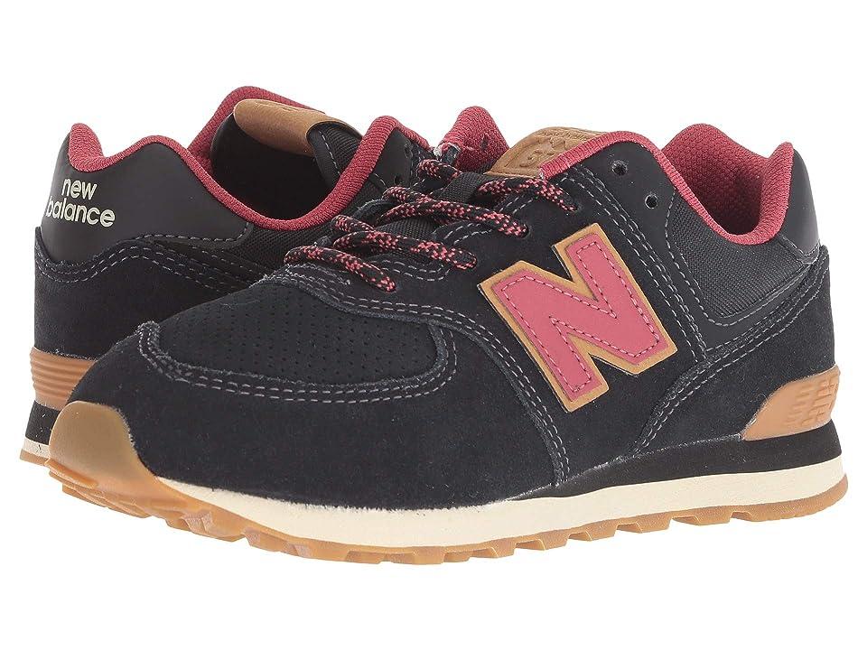 New Balance Kids PC574v1 (Little Kid) (Black/Earth Red) Kids Shoes