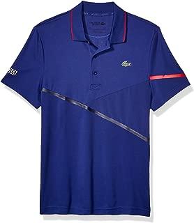 Lacoste Mens Sport Short Sleeve Mixed Media Polo Shirt