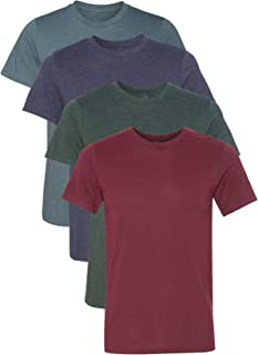 Kennedy Todd 4 Pack Men's Heather Cotton Poly T-Shirt …