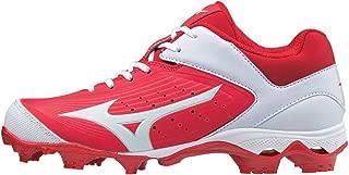 Mizuno Women's 9-Spike Advanced Finch Elite 3 Fastpitch Cleat Softball Shoe, Red/White, 9 B US