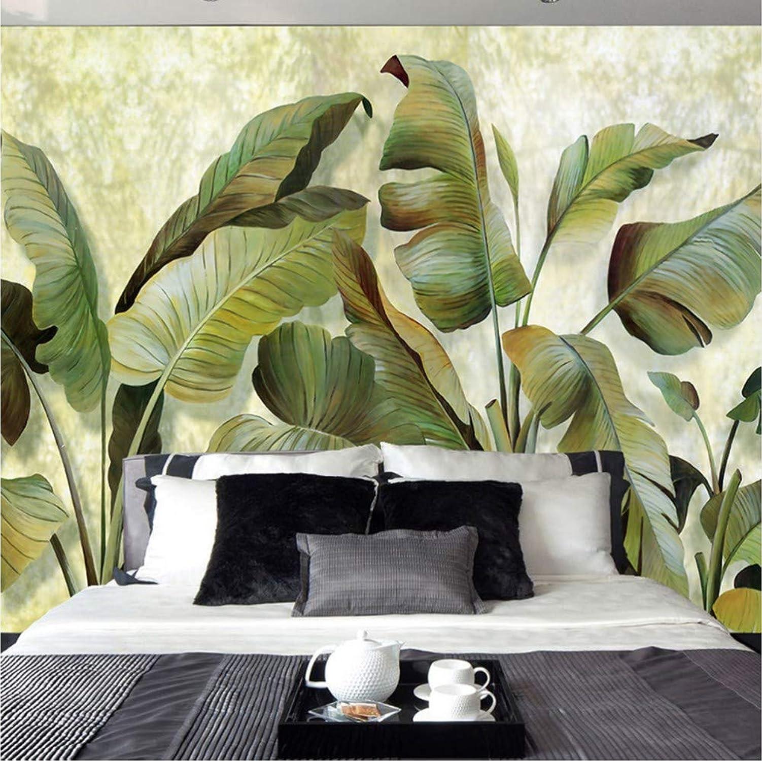nuevo sádico Hlonl Papel Tapiz Mural Personalizado Sureste Asiático Hoja De De De Plátano verde Tropical Papel Tapiz Dormitorio Sala De Estar Fondo Decoración De Parojo Papel Tapiz-200X140CM  Hay más marcas de productos de alta calidad.
