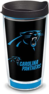 Tervis 1325559 NFL Carolina Panthers - Touchdown Insulated Tumbler with Wrap and Black Travel Lid, Tritan, 16 Fluid_Ounce...