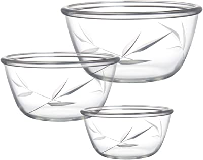 Treo by Milton Handcrafted Designer Bowl Set of 3, Petal