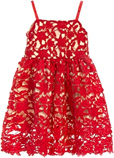 red crochet baby dress
