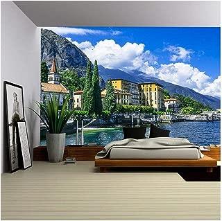 wall26 - Scenery of Lago di Como, Cadenabbia. Italy - Removable Wall Mural | Self-Adhesive Large Wallpaper - 100x144 inches