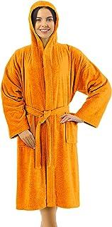 Banzaii Accappatoio in Spugna 100% Cotone con Cappuccio – Accappatoio Uomo e Donna - Taglia L Arancione