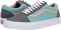 (Textured Suede) Pewter/Aqua Haze