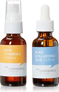 Cosmedica Skincare Best-Seller Set- Vitamin C Super Serum and Pure Hyaluronic Acid