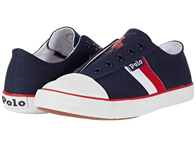 Polo Ralph Lauren Kids Robson (Big Kid) (Navy Canvas/Red/White/Red Polo Print) Boy