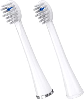 Waterpik Compact Replacement Brush Heads for Sonic-Fusion Flossing Toothbrush SFRB-2EW, 2 Count White