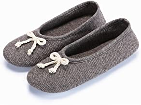 Women's Elegant Cashmere Knitted Memory Terry Ballerina Slipper with Outdoor Comfort Maternity Gift