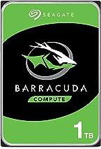 Seagate 1 TB BarraCuda 3.5 Inch Internal Hard Drive (7200 RPM, 64 MB Cache, SATA 6 Gb/s, Up to 210 MB/s, Model: ST1000DMZ10), Silver