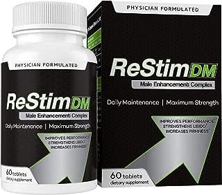 Restim DM Male Enhancement Complex, 60 Tablets, Improve Firmness, Performance, and Blood Flow