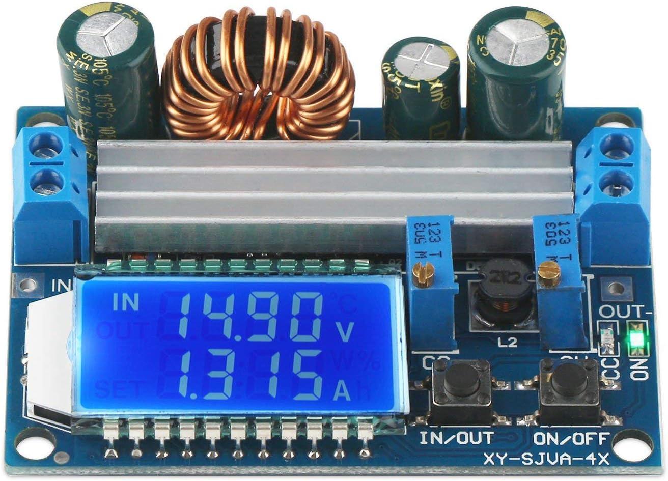 ARCELI Buck Boost Converter Display, Buck-Booster DC 5.5-30V 12v a DC 0.5-30V 5v 24v Voltaje Actual Constante Ajustable Paso Arriba Regulador de Voltaje 3A 35W Módulo de Fuente de alimentación