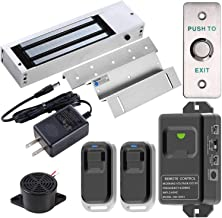 UHPPOTE 2.4GHz WiFi Inswinging Indoor 1200lbs Electromagnetic Door Lock Kit Remote and Smartphone app Controlled