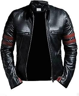 Cafe Racer Leather Jacket for Men Black Mass 3 Mens Jacket