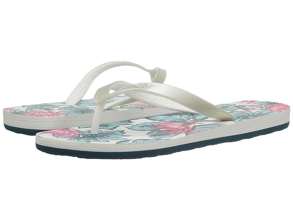 Roxy Kids Tahiti VI (Little Kid/Big Kid) (Silver/Lagoon) Girls Shoes