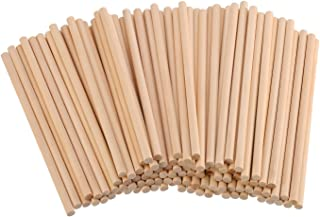 eBoot Unfinished Natural Wood Craft Dowel Rods 100 Pack (6 x 1/4 Inch)
