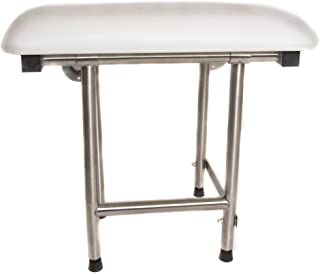 CSI Bathware SEA-SD2815-NH-PA Series Folding Shower Seat with Padded Top and Swing Down Legs, White