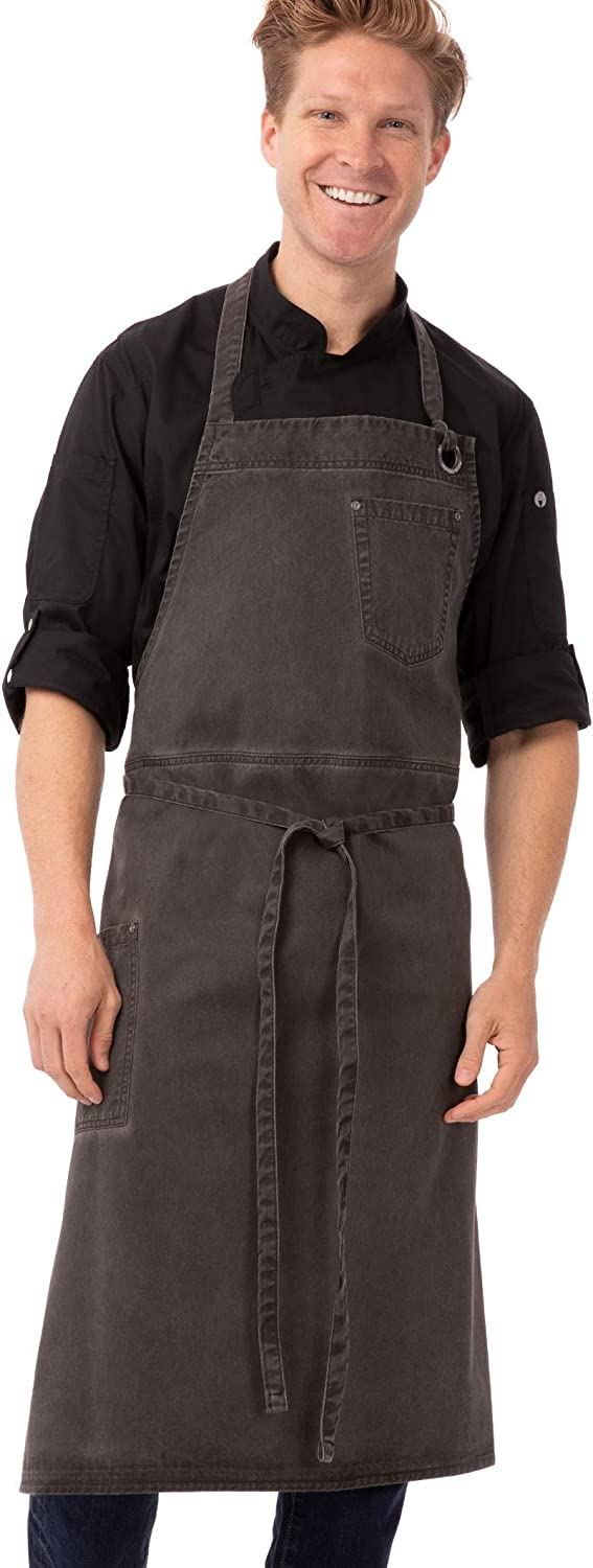 Chef Works 67% OFF of fixed price Unisex Dorset Chefs Size Bib Apron Pewter One Cheap bargain