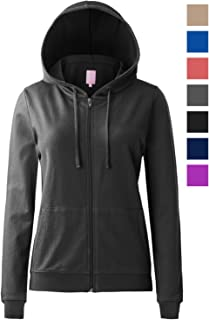 Regna X Round Neck Long Sleeve Full Zip Hoodies for Women (16, S-3X)