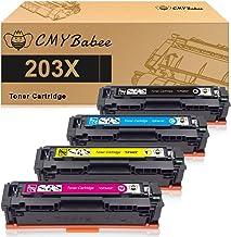 CMYBabee Compatible Cartucho de Toner para HP 203X CF540X 203A CF540A CF541X CF542X CF543X para HP Color Laserjet Pro MFP M281fdw M281fdn M254nw M254dw m280nw m281cdw M254dn (4 Piezas)