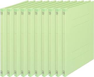 プラス 背補強フラットファイル A4縦 2穴 10冊 グリーン No.021S 79-436