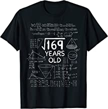 Square Root of 169 - 13 Years Old 13th Birthday Gift Math T-Shirt