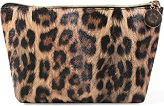 HOYOFO Leopard Cosmetic Bag Organizer Travel Portable Makeup Pouch Storage Toiletry Bag For Women,Light Leopard B