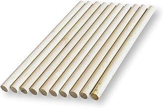 BrilliantBuys 10 x Houten Dowels, Craft Sticks 8mm dik, 10cm, 15cm, 30cm lang