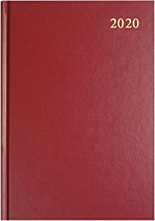 Collins Essential A4 Day to Page 2020 Diary - Maroon