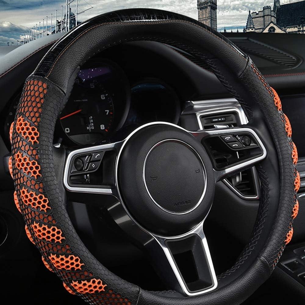 ZHHk Steering Tampa Mall Wheel Cover Leath Sacramento Mall Microfiber Ventilation Honeycomb