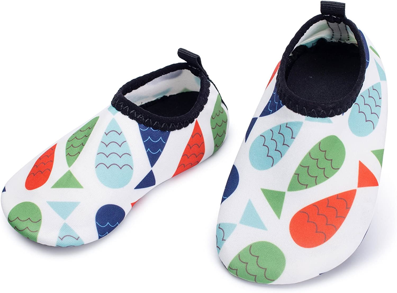   L-RUN Baby Water Shoes Barefoot Skin Aqua Sock Swim Shoes for Beach Swim Pool   Sneakers